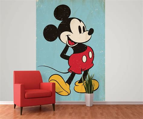 mickey mouse wall murals mickey mouse retro wall mural buy at europosters