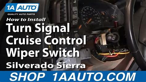 install replace turn signal cruise control wiper