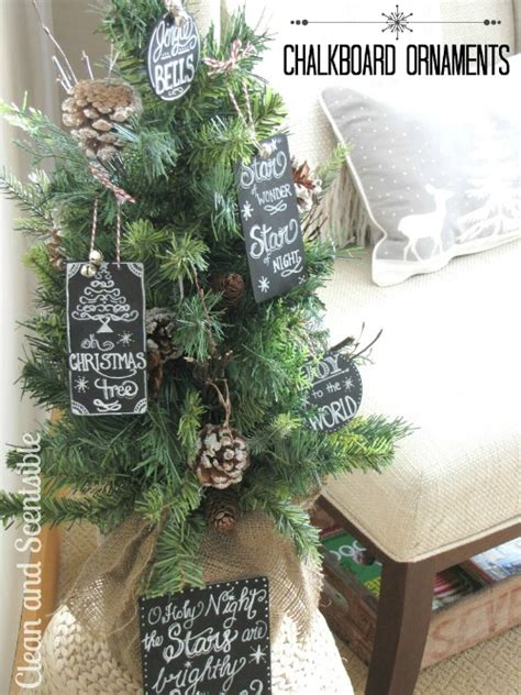 how to clean christmas ornaments chalkboard tree ornaments clean scentsible