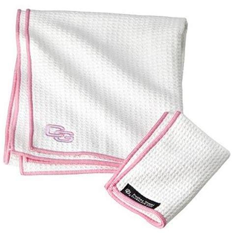 club glove microfiber caddy custom logo towel white pink