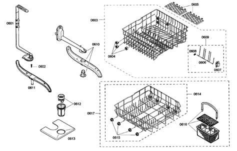bosch dishwasher parts diagram bosch dishwasher parts schematic bosch model