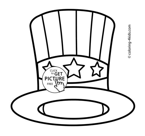 Usa Hat Coloring Pages Usa Independence Day Coloring Usa Hat Coloring Pages Usa