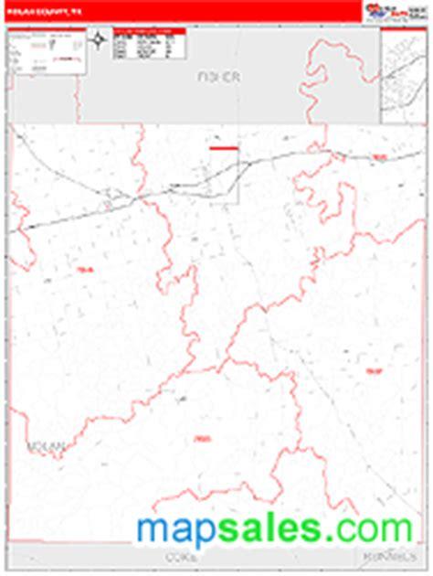 nolan county texas map nolan county tx wall map line style by marketmaps