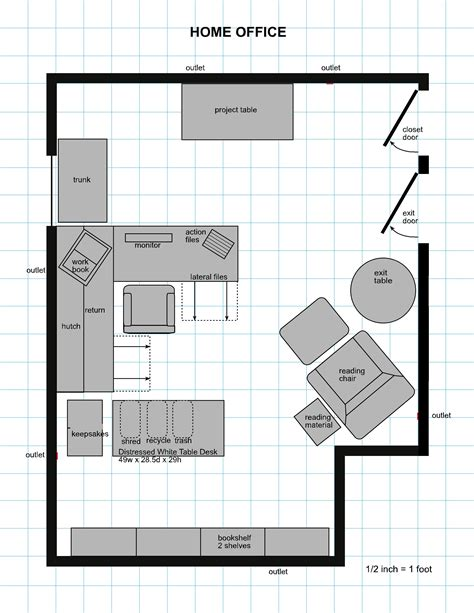 floor plan of the office modern home office floor plans for a comfortable home