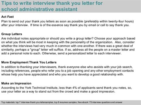 thank you letter after administrative assistant school administrative assistant