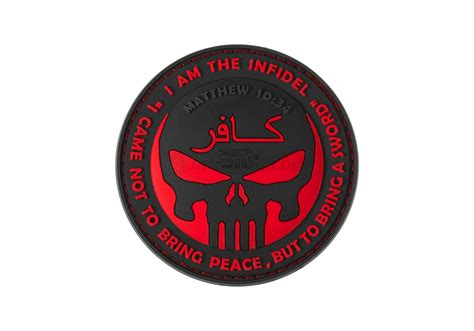 Patch Rubber Patch Punisher Merah Brevet the infidel punisher rubber patch blackmedic jtg rubber patches patches equipment