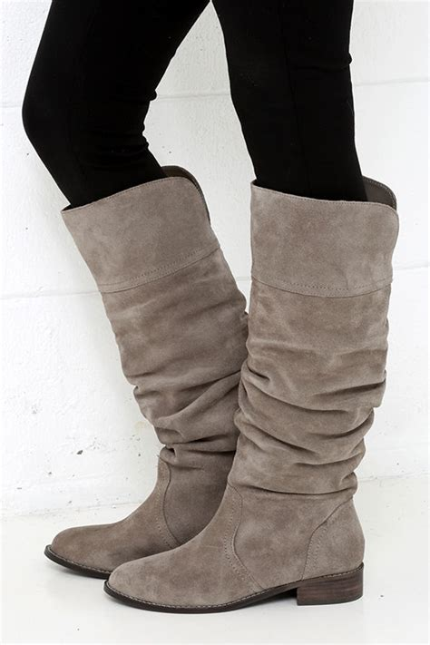 grey boots grey boots flat boots knee high boots 119 00