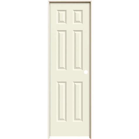 Prehung 6 Panel Interior Doors Jeld Wen 24 In X 80 In Molded Smooth 6 Panel Vanilla Hollow Composite Single