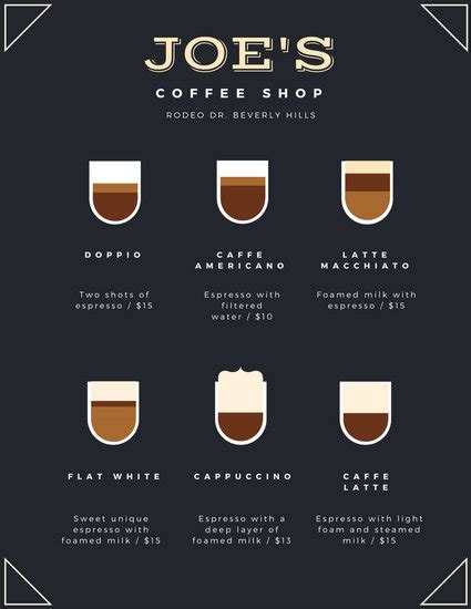 Cups Coffee Shop brown cups coffee shop menu templates by canva