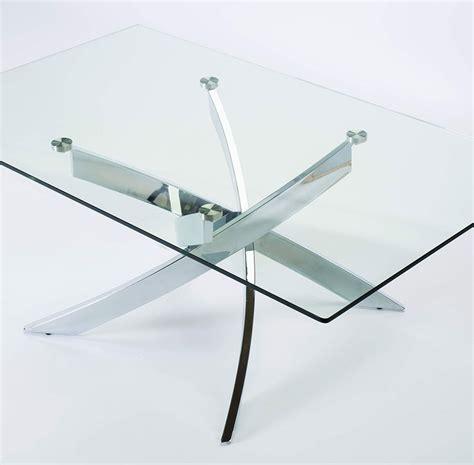 table en verre table basse en verre et chrome design jaina