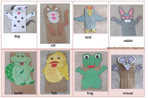 How To Make Paper Bag Puppets - esl efl preschool teachers september 2012
