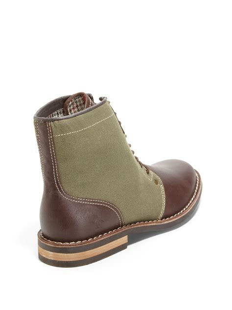 canvas boots original penguin jerry jeff leather canvas boots in green