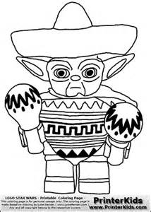 lego wars coloring pages pdf lego wars mexican yoda coloring page colour le