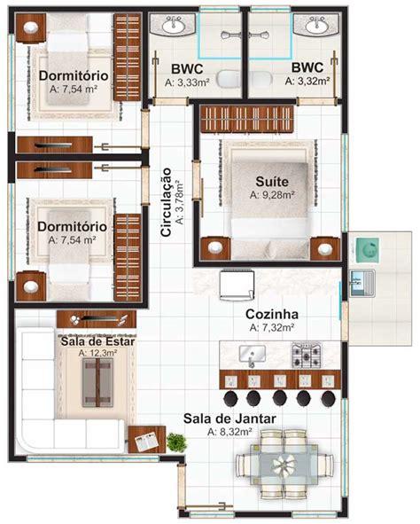 planos de casas pequenas pictures to pin on pinterest plano de casa de un piso con tres dormitorios 70m2