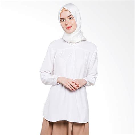 Atasan Wanita Blouse Muslim Tunik Chic Pinguin Lengan Panjang Jumbo jual koesoema clothing ameera kemeja tunik lengan panjang