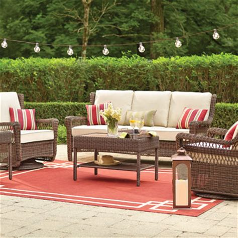 wicker patio furniture the home depot home design idea