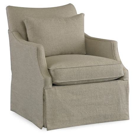 sam swivel chair azriel casual swivel glider chair with arms and waterfall skirt by sam wolf