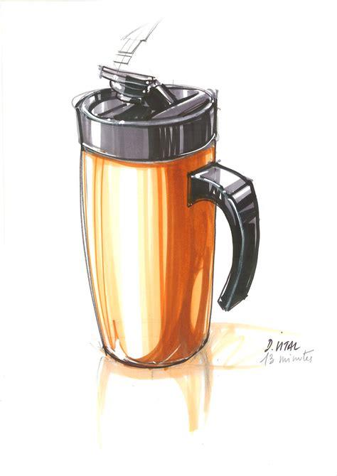 design plastic mug quick sketch student demonstration nantes school of design