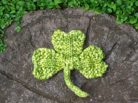 st st knitting shamrock clover knitting pattern for st s day