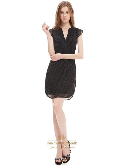 Black Chiffon Summer Women S Semi Formal Dresses With Cap Design Your Own Semi Formal Dress