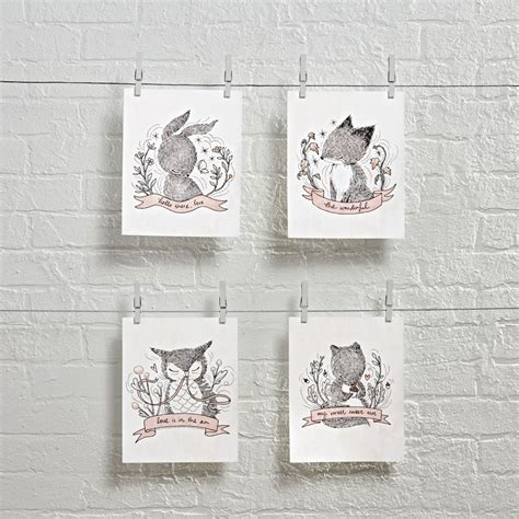 whimsical wall decor whimsy whimsical wall set of 4 the land of nod