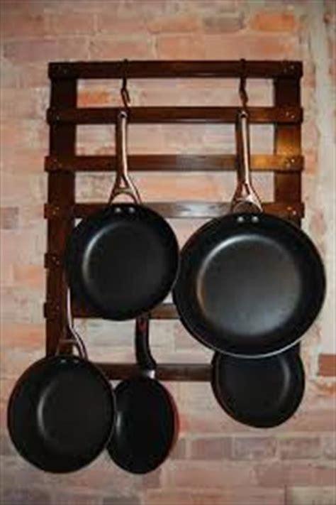 Hanging Saucepan Holder Diy Pallet Pan Holder Pallets Designs