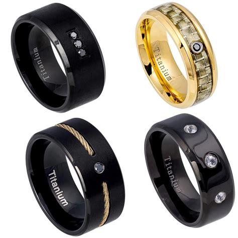 new titanium mens wedding band comfort fit promise