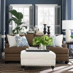 blue and brown living rooms blue and brown living room decor pinterest