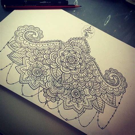 girly henna tattoo designs best 25 sternum design ideas on