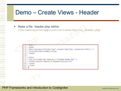 codeigniter layout header footer php frameworks and codeigniter