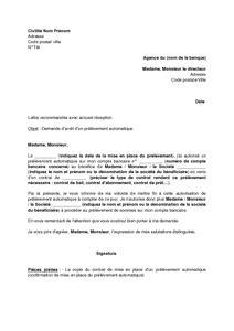lettre de demande d arr 234 t d un pr 233 l 232 vement bancaire