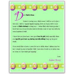 Letter To The Easter Bunny Template by A Free Easter Bunny Letter Template For Ms Word
