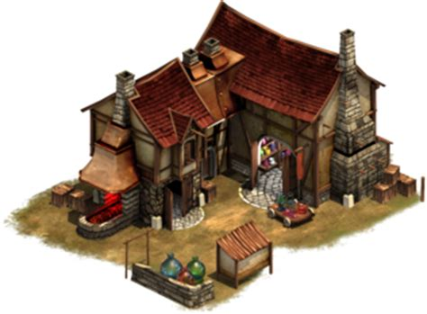 glassblower good buildings forge  empires