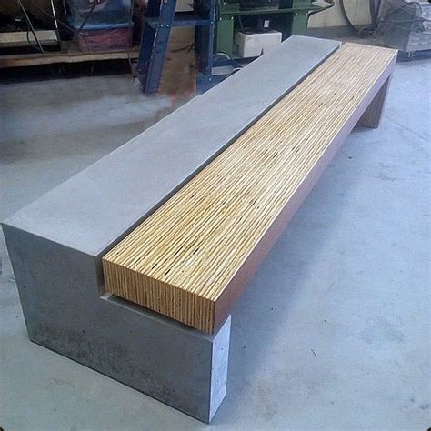 concrete and wood benches concrete and wood bench modern accent and storage benches denver by concretepete llc