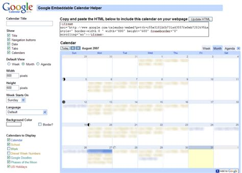 How To Embed Calendar Embed Calendars