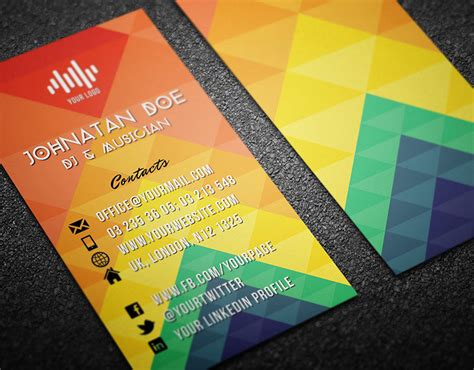 colorful business card template colorful business card template landisher