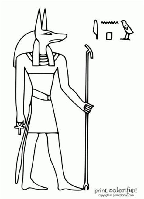 printable egyptian stencils egypt stencils egyptian god anubis print color fun