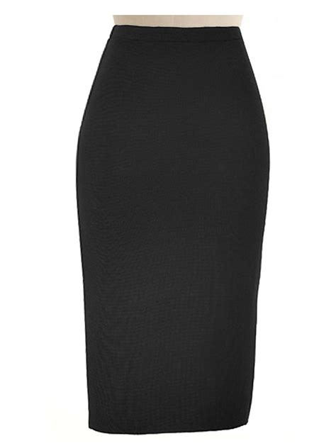 wool blend black pencil skirt custom fit handmade fully