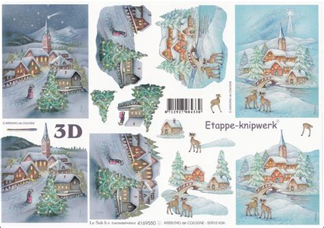 Le Suh Decoupage - le suh snow 3d step by step decoupage 550 jacques