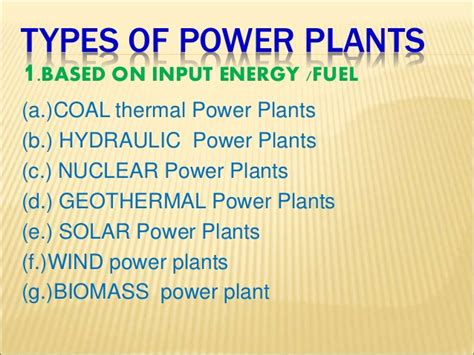 3 types of power types of power plants