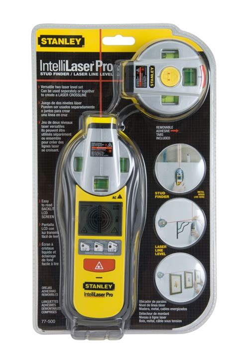 home depot stud finder stanley intellilaser pro stud sensor and laser line level