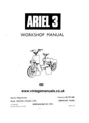 Ariel 3 Trike workshop manual - ECManuals