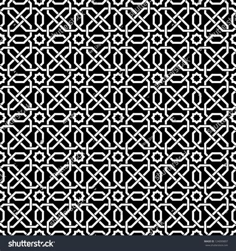 abstract islamic pattern islamic seamless pattern abstract background stock