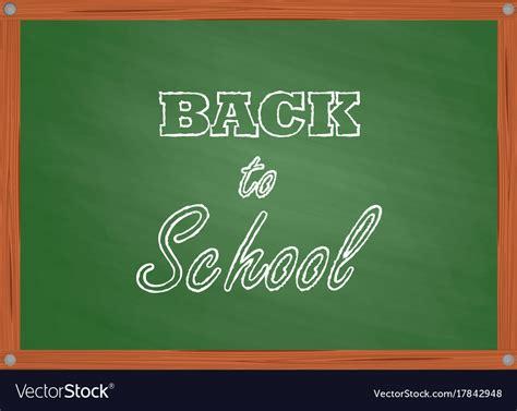 school green board in cartoon style royalty free vector