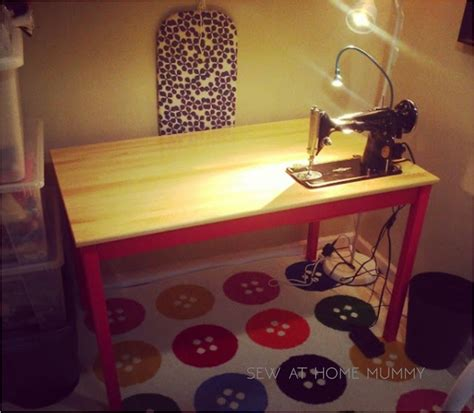 ikea sewing table hack sew at home mummy tutorial ikea hack the ingo sewing
