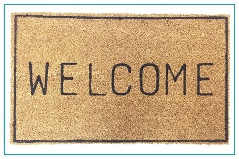 Welcome To Our Home Doormat - doormats made from recycled tires