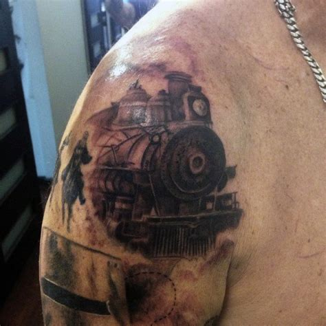 tattoo inspiration for guys 70 train tattoos for men masculine railroad designs