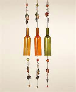 Wine bottle craft fall decorations wind chime