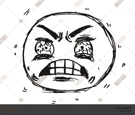 frustrated face meme illustration vector photo bigstock