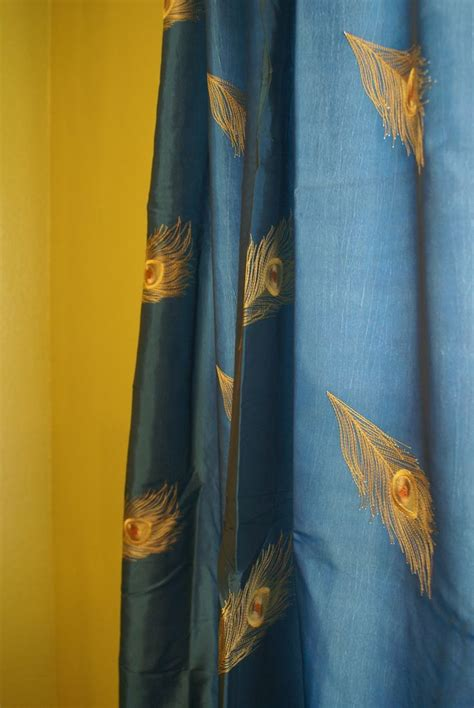 peacock blue curtain panels 116 best peacock house decorations images on pinterest